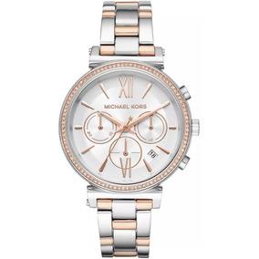 2a940bff4e16a Relógio Feminino Michael Kors Mk3380 Prata Rose S Cx - Relógios De ...