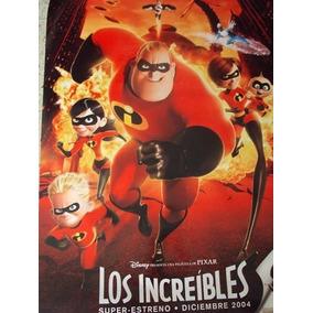 Poster Original De La Pelicula Los Increibles. Disney.