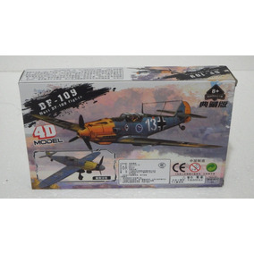 Bf-109 Messerschmitt - 4d Model - 1/48