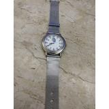 edacf597e5706 Relógio Dumont Sbt, Bem Conservado, Pulseira Mesh, Original!