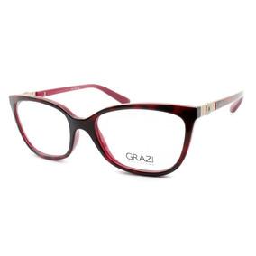... Gz3052 G077 50 Marrom Tartaruga. Rio Grande do Sul · Armação Óculos De  Grau Feminino Grazi Massafera Gz3038 F066 1c3360c991
