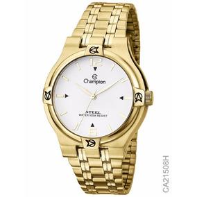 Relógio Champion Social Dourado Ca21508h Original Nf