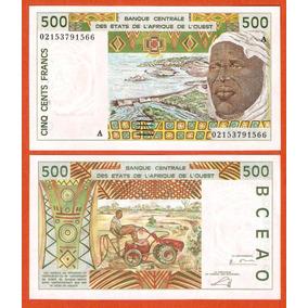 Costa Do Marfim (a) 500 Francos 2002 P. 110am Fe Manc Mínima