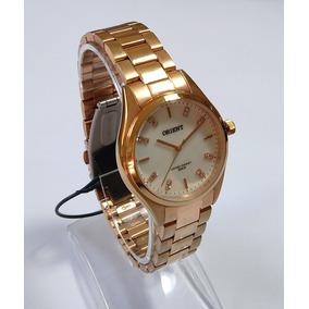 Relógio Dourado Rose Feminino Orient Frss0027b1rx Original.