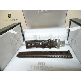 Pulseira De Couro Tissot Prs516 T100417 20mm Marrom Original