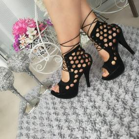 Sandalias Hermosas Con Tacón Hermoso, Colores + Envío Gratis