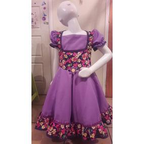 Hermoso Vestido Huasa Folclórico Talla 8-10