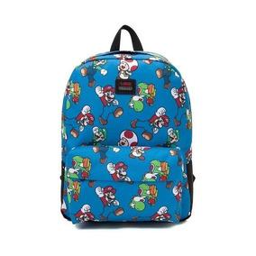 Mochila Vans Real Old School Nintendo Mario Bros Ed Limitada 4e6ad3488df