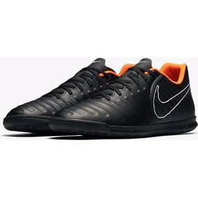 Chuteira Futsal Nike Tiempo Laranja E Preto - Chuteiras no Mercado ... 671f392886c6e