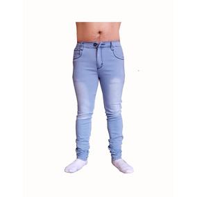 Pantalon Caballero Fbv Entubado Skinny Azul