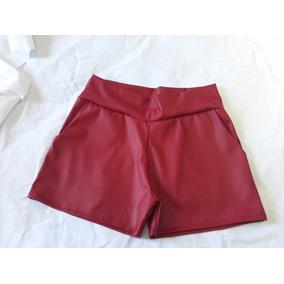 Shorts Courino/couro Sintetico Do Tam 34 Ao 52 Otimo Preço