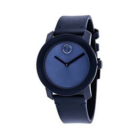 Reloj Movado 3600370 Cuero Azul Unisex