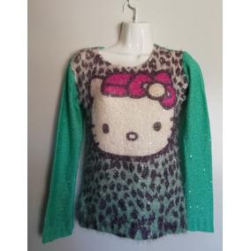 Suéter Hello Kitty Peludito Lentejuelas Estambre Talla M