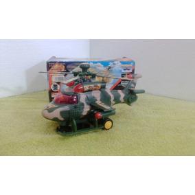 Brinquedo Infantil Helicoptero Militar Bate Volta Som Luz