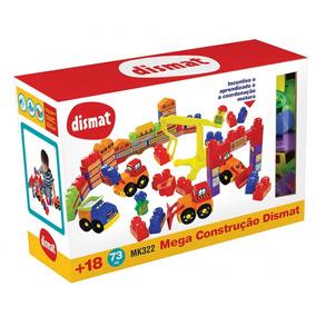 Brinquedo Educativo Mega Construção Dismat Com 73 Peças