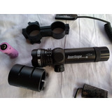 Mira Laser Verde Scope Trilho 20/22mm P/ Airsoft E Paintball