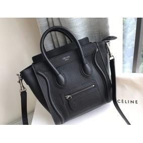 Celine Nano Bag Autentico Black Cuero
