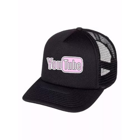 Boné Trucker Aba Curva Youtube Site Feminino Masculino e99b7e893d8