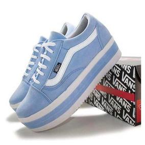 5c5d0f554a0 Tenis Vans Old Skool Nude Sao Paulo - Tênis para Feminino Azul claro ...