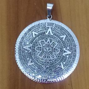 Dije Calendario Azteca Plata Ley 925 58grs7.5cm Diametro D14