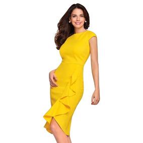 ce2a9a0b64 Vestido Cklass Amarillo Barato - Vestidos en Distrito Federal en ...