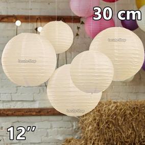 10 Pantallas Chinas 12 Pulgadas 30cm Blancas Lampara Lintern