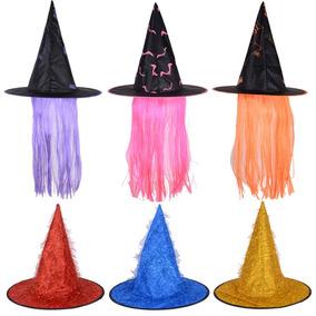 54fcad1a93e74 Sombrero De Bruja Morado Color De Peluca De De Halloween Som