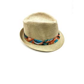 Chapéu Panamá Na Cor Palha Com Detalhe Em Tecido Floral Em. R  9 90 cbc33ba2050