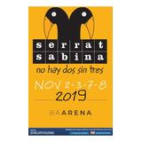 Entradas Recital Sabina Serrat Noviembre 2019