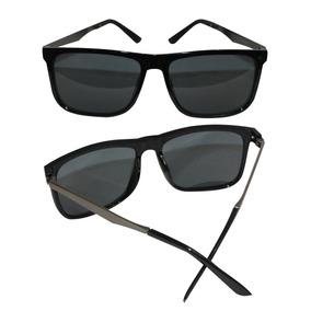 Óculos De Sol Quadrado Unissex Lente Escura Uv400 a827aa4ede