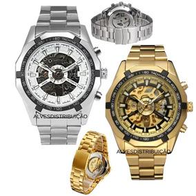 7e1b767e262 Relogio Mecanico Dourado Skeleton - Relógios no Mercado Livre Brasil