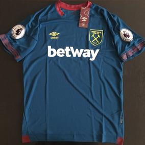 Impresionante Jersey West Ham Azul Visita Parche Premier a4f40836b