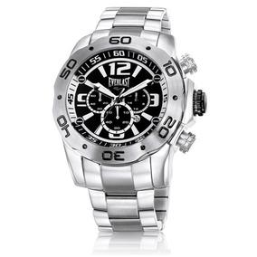 Relógio Everlast Masculino Prata Cronógrafo E549 Promoção