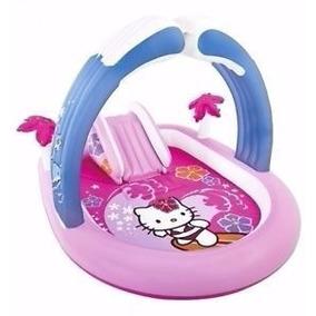 Centro De Juegos Inflable Intex Pileta Pelotero Hello Kitty