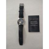 Reloj Automático Tommy Malla Cuero Negro