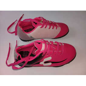 Tenis Charly Futbol Niña Rosa Con Blanco Y Negro Talla 18 257afd67bdc0d
