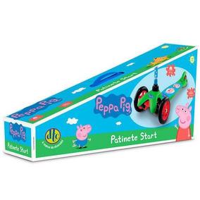 Patinete Start 3 Rodas Peppa Pig Dobrável Até 20kg Dtc 4773