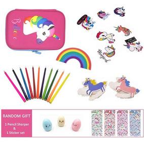 Lindo Material Escolar Para Las Niñas Unicornio, Unicornio D