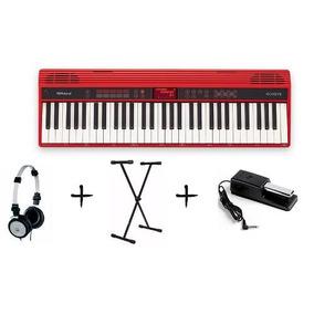 Teclado Roland Go 61k Keys 61 Teclas +fone+suporte+pedal