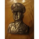 Antiguo Busto De Perón De Peltre 21,5 Cm.