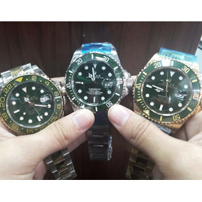7591ecdfc87 Rolex Submarino Verde Masculino Pulso - Relógios De Pulso no Mercado ...