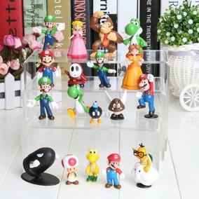 06 Bonecos Sonic + 18 Bonecos Super Mario
