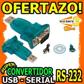 Adaptador Usb A Rs232 Serial Db9 Convertidor Cable Wow