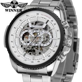 Relógio Winner Men Skeleton Automatic Mechanical