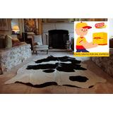 Tapete De Piel De Vaca Original/genuino Con Manchas Atigrado