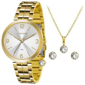 1c3eaae1ee8 Relógio Lince Feminino Lrg4179l Brinco E Pingente - Relógios De ...