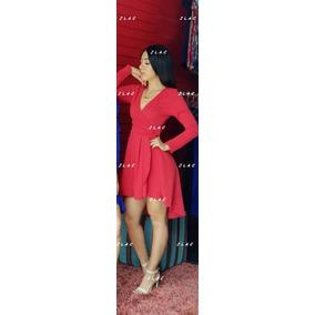 Vestido Rojo Cola De Pato Andreomys Envío Gratis