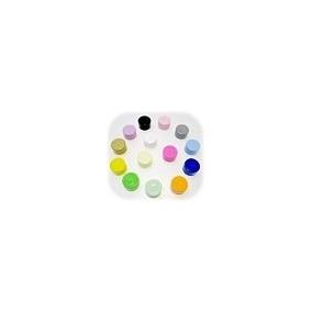 500 Tampas Coloridas P/ Garrafinhas De 50ml - Boca 18