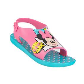 Sandalia Infantil Menina Love 26111 Ipanema Disney Azul/rosa