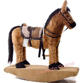Cavalinho Cavalo Brinquedo Pelucia Infantil Gangorra Barato!